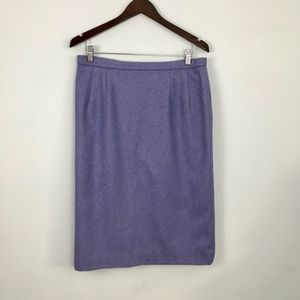 Pendleton 14 Vintage Purple Wool Pencil Skirt